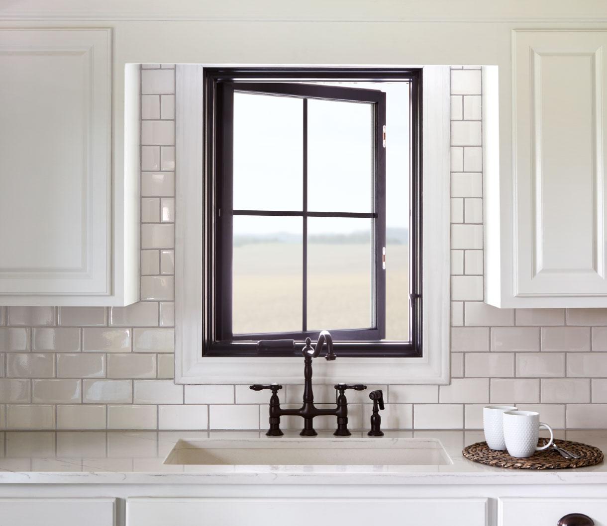 pella architect series traditional wood casement window