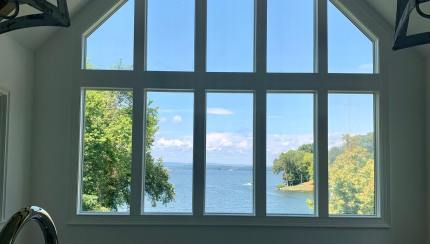 Custom Window Wall Beautifully Frames The Outdoors Pella