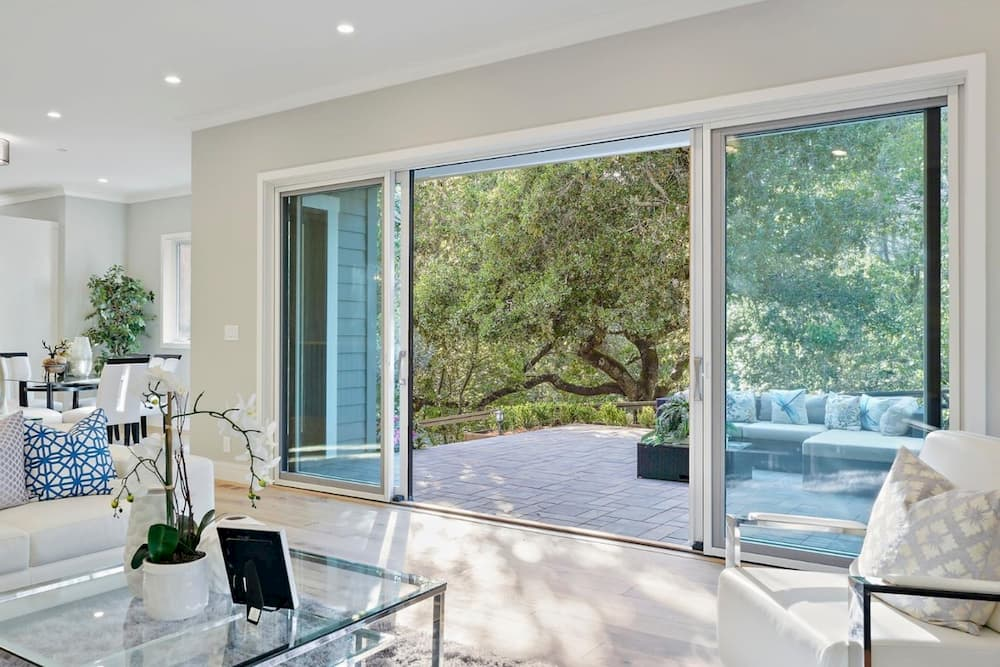 elegant french sliding patio doors pella
