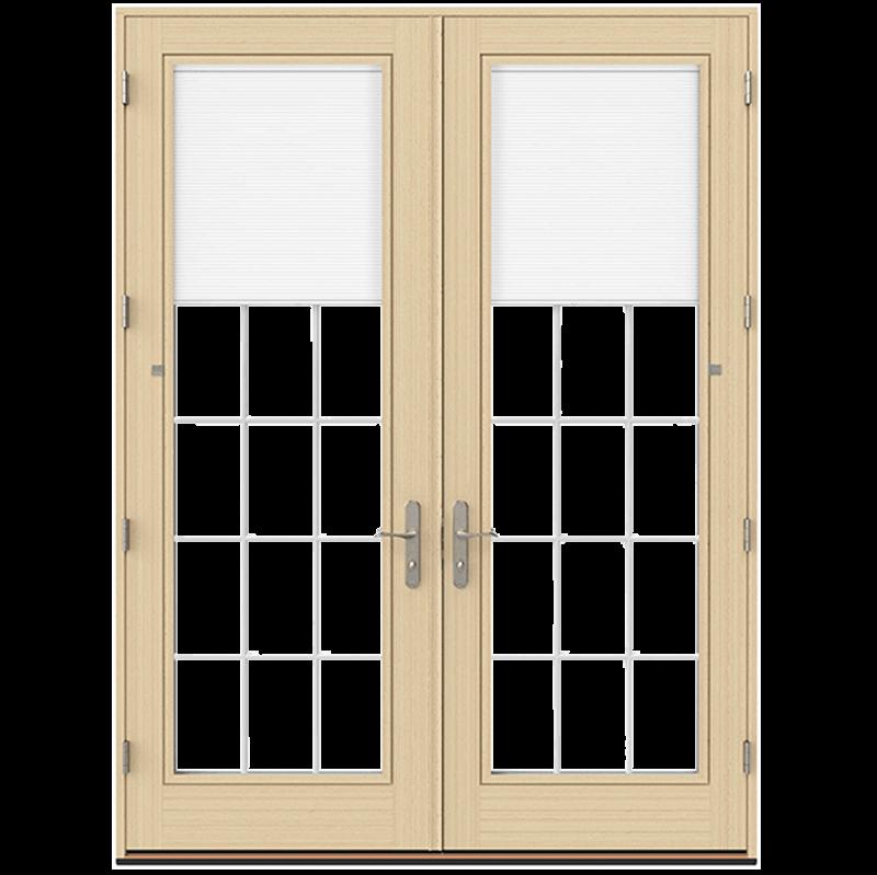pella lifestyle series wood hinged patio door