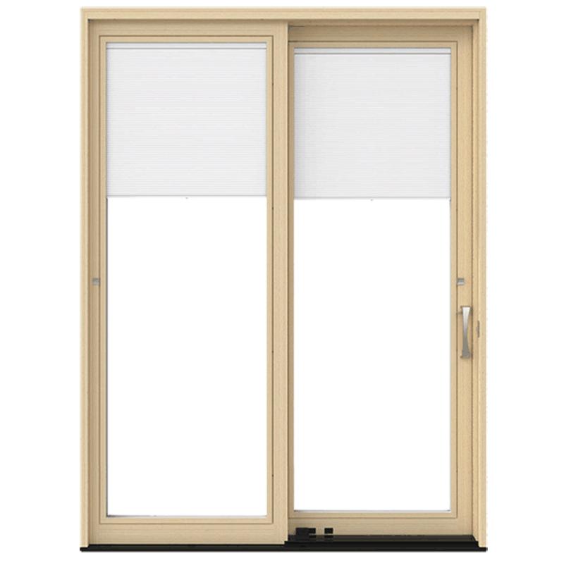 pella lifestyle series wood sliding patio door