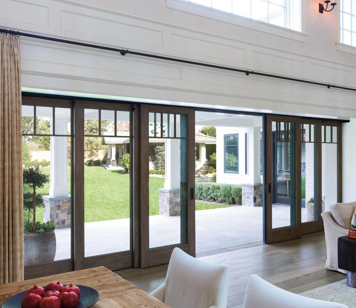 pella architect series traditional multi slide patio door