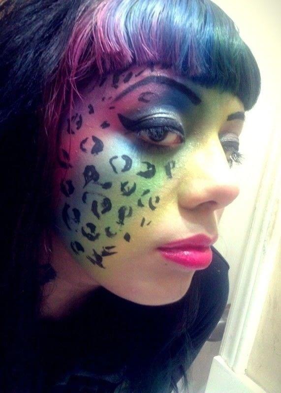 Lisa Frank Inspired Makeup An Animal Print Eye Makeup