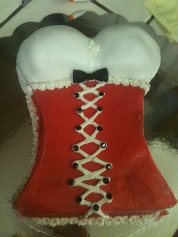 Corset Cake 183 A Body Part Cake 183 Baking On Cut Out Keep
