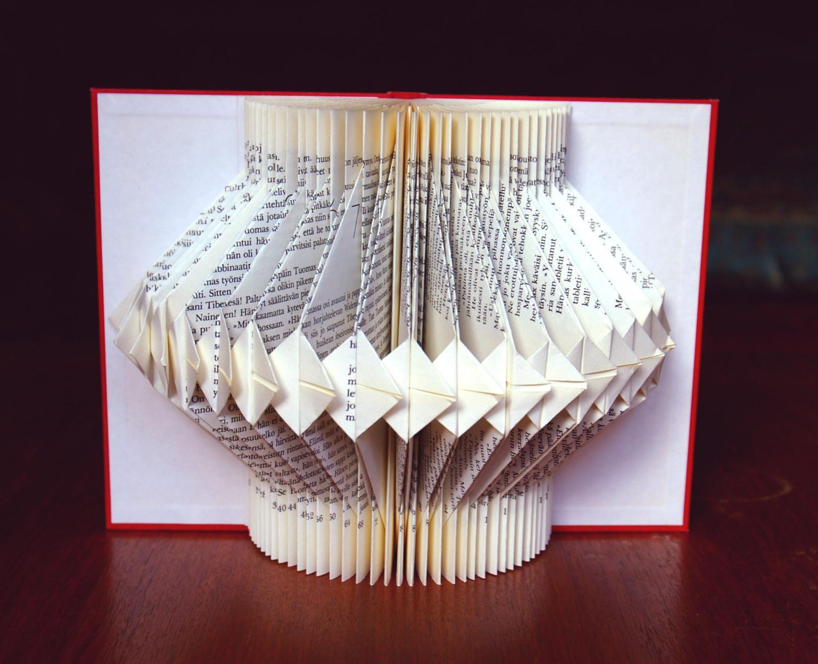 Book Decorative Item 183 A Piece Of Book Art 183 Papercraft