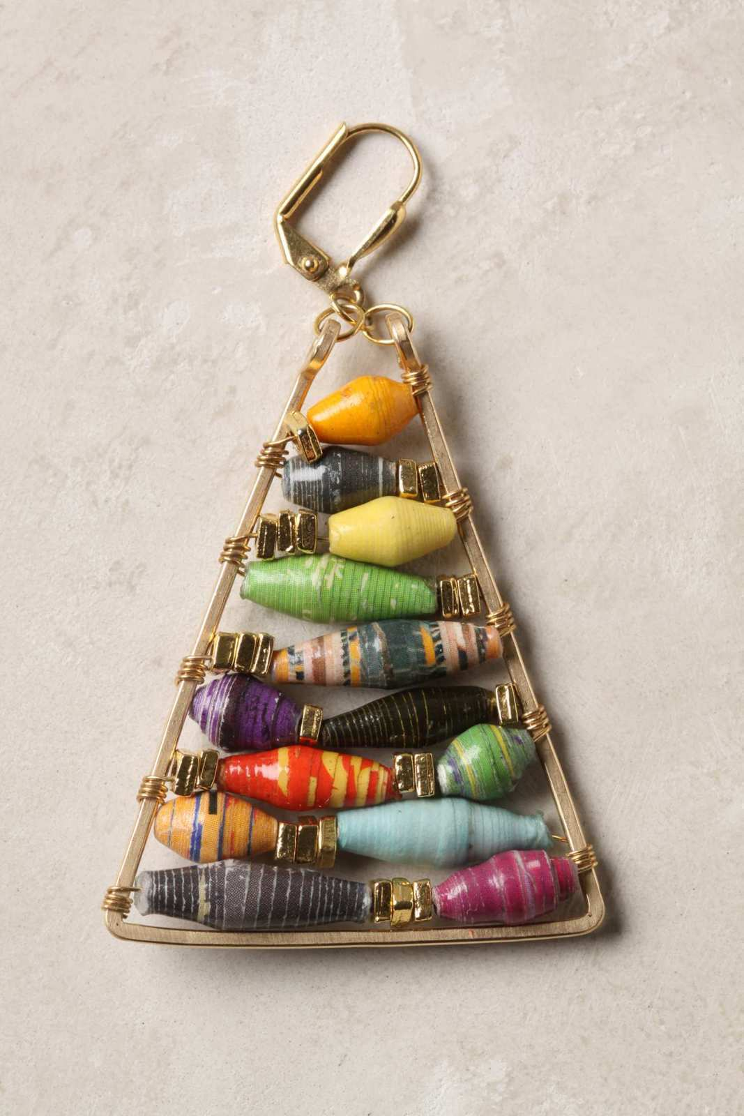 Anthropologie Inspired Paper Bead Earrings How To Make A