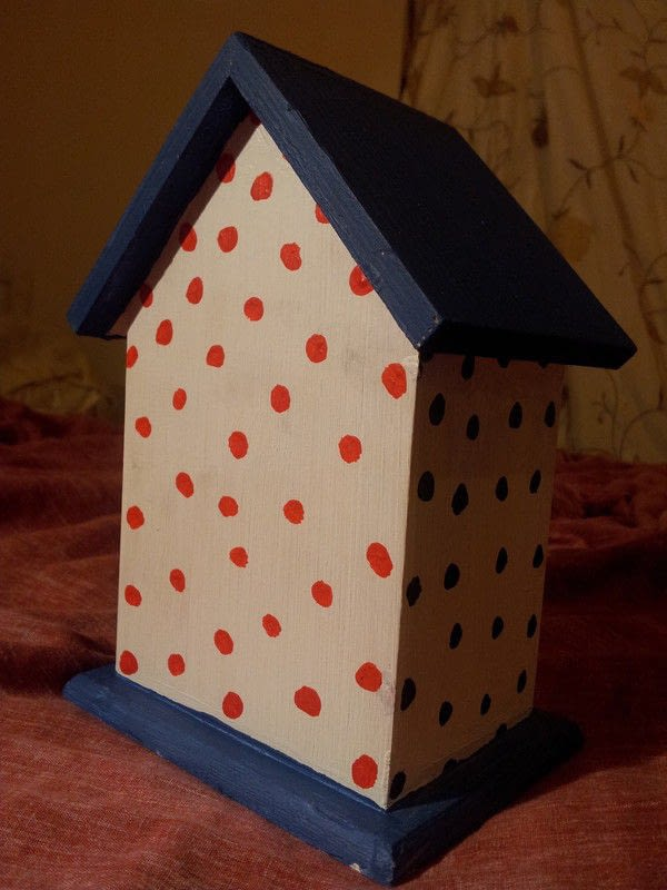 Polka Dot Birdhouse A Bird House Decorating On Cut