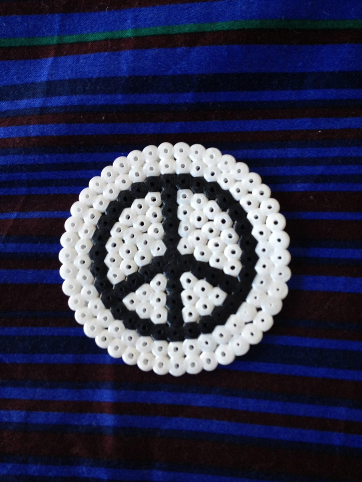 Hama Bead Black And White Peace Coasters A Beaded