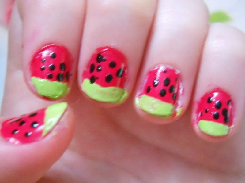 Watermelon Nails How To Paint A Fruity Nail Nail Painting On Cut Out Keep