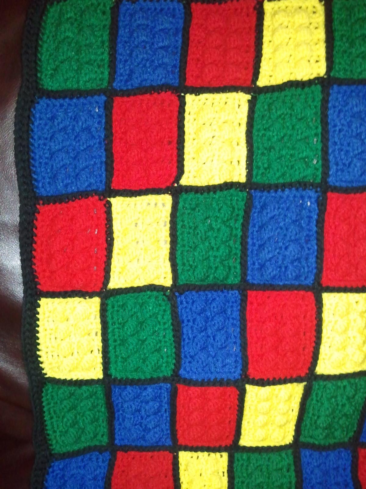 Crochet Lego Throw Blanket A Throw Crochet On Cut Out