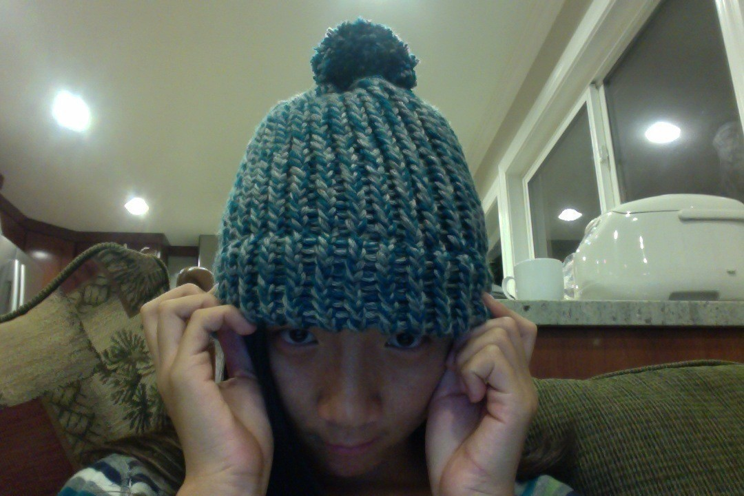 Loom Knitted Hat A Beanie Knitting On Cut Out Keep Creation By Sandra L