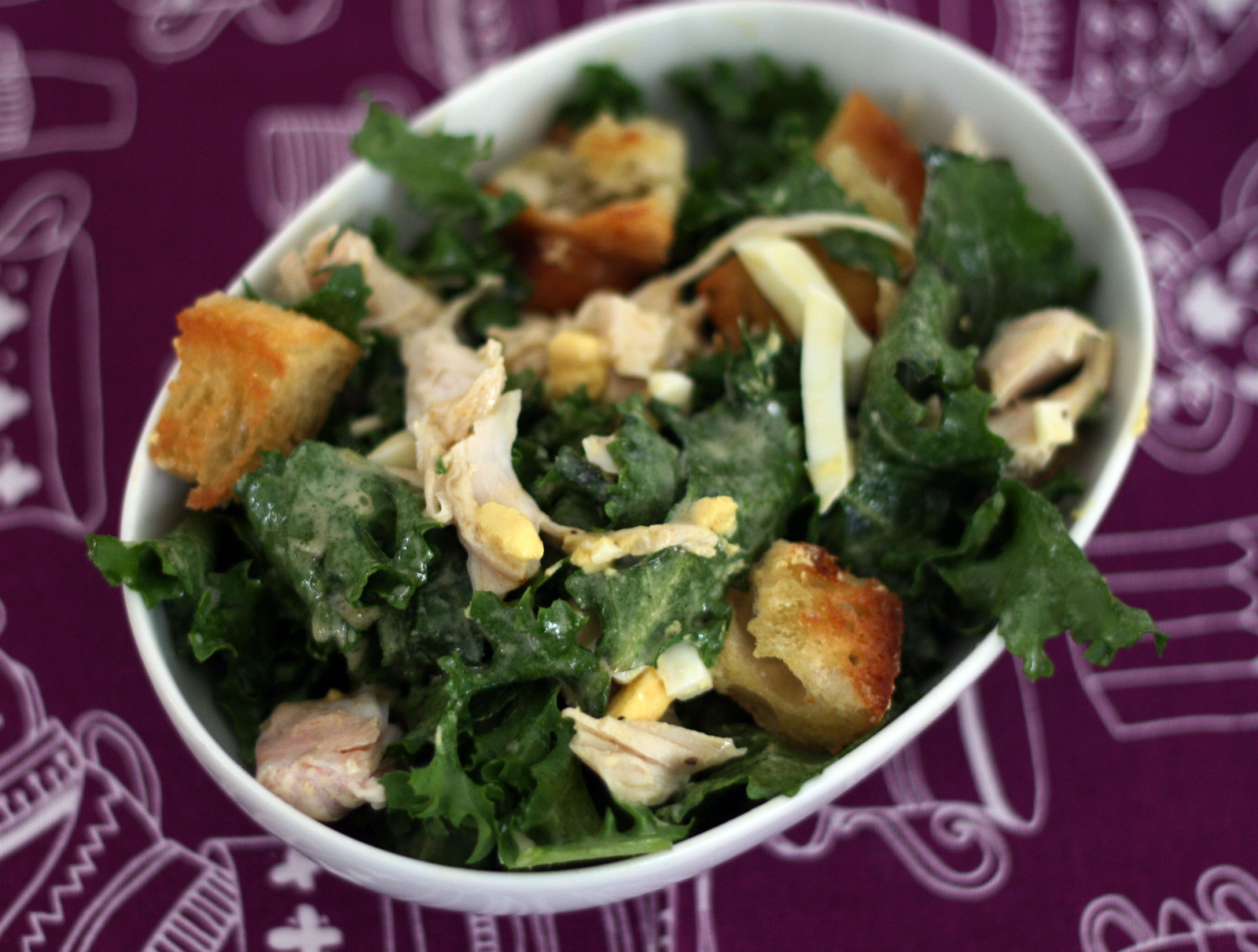Escarole Salad With Turkey Amp Garlic Rubbed Croutons How To Make A Salad Cooking On Cut Out