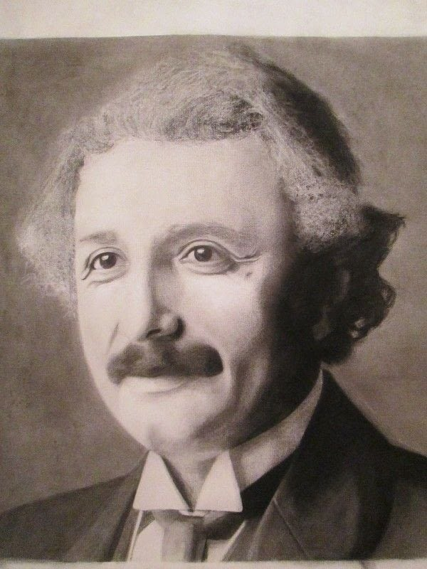 Albert Einstein 183 A Portrait 183 Art And Drawing On Cut Out