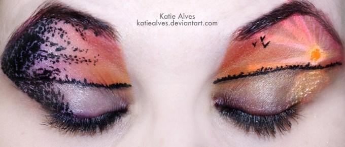 how to do scene eye makeup - cat eye makeup