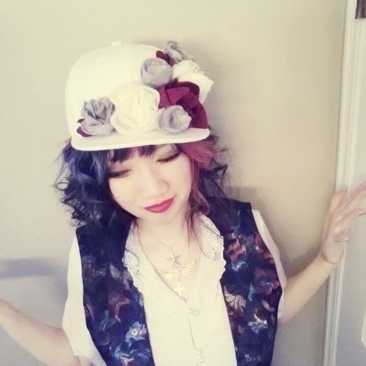 Diy Floral Snapback Hat How To Make A Baseball Cap
