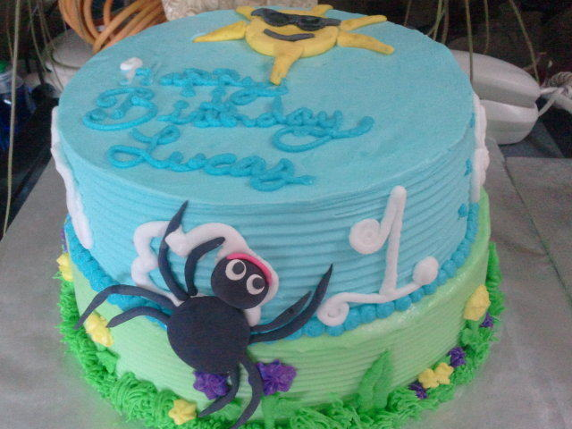 Itsy Bitsy Spider Cake An Animal Cake Recipes On Cut