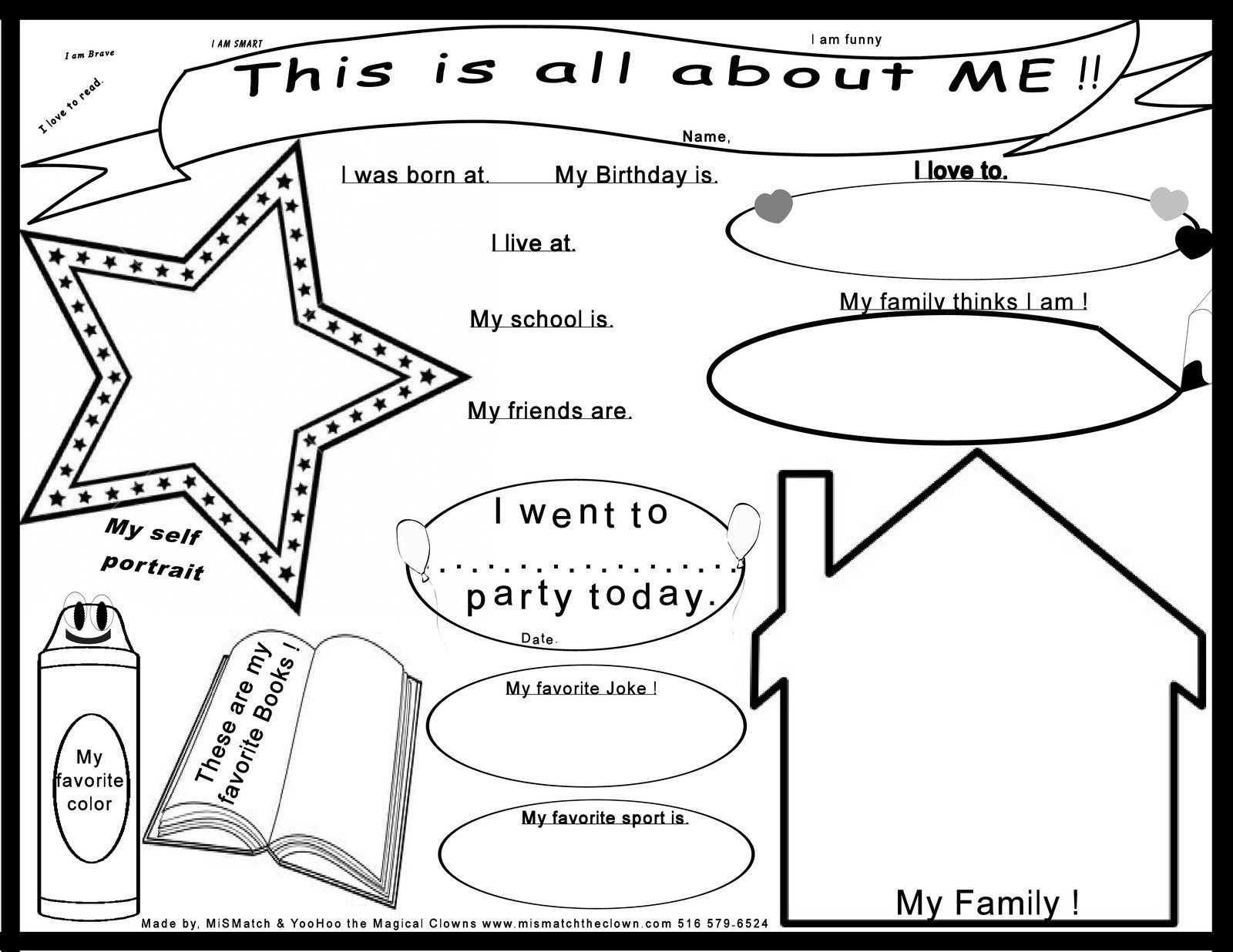 Kids All About Me Poster Print Out How To Make A Papercraft Other On Cut Out Keep