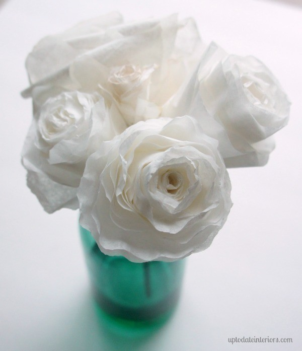 Coffee Filter Roses How To Make A Paper Flower