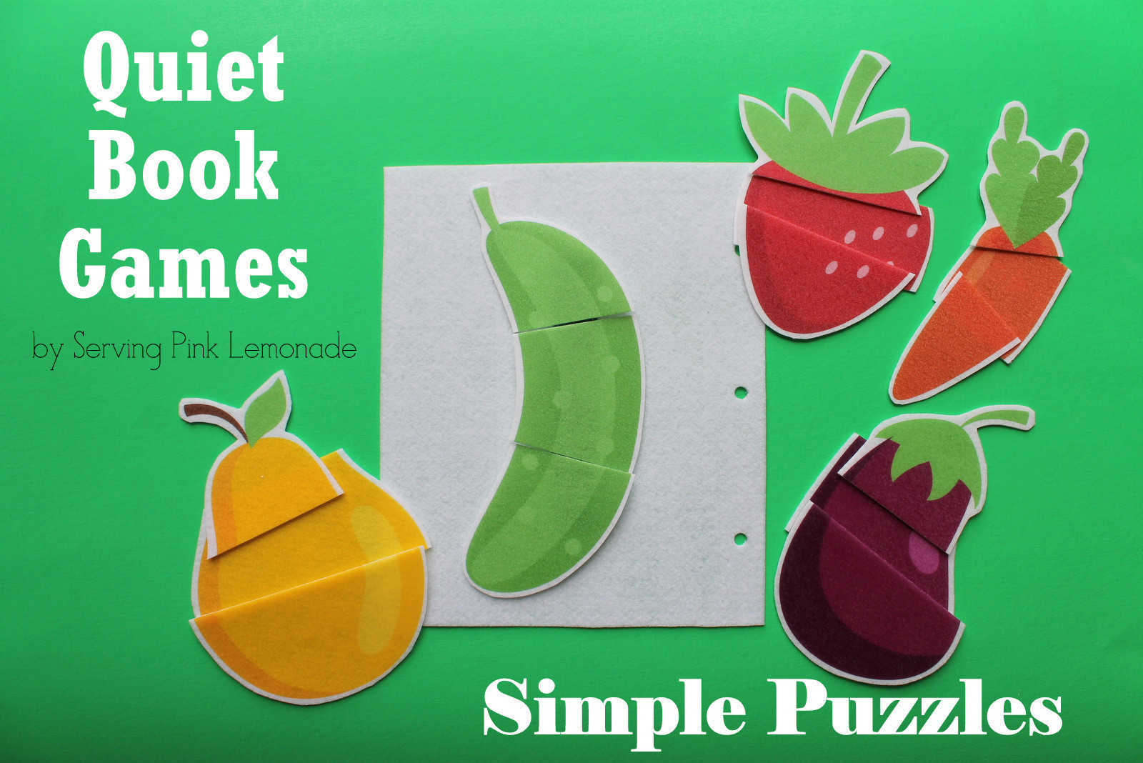 Simple Quiet Book Puzzles How To Make A Puzzle Sewing