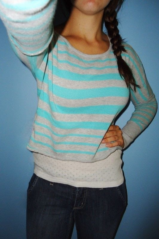 Short Sleeve Sweater Tunic Into Long Sleeve Cropped