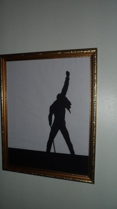 Freddie Mercury Papercut Silhouette Frame 183 How To Make