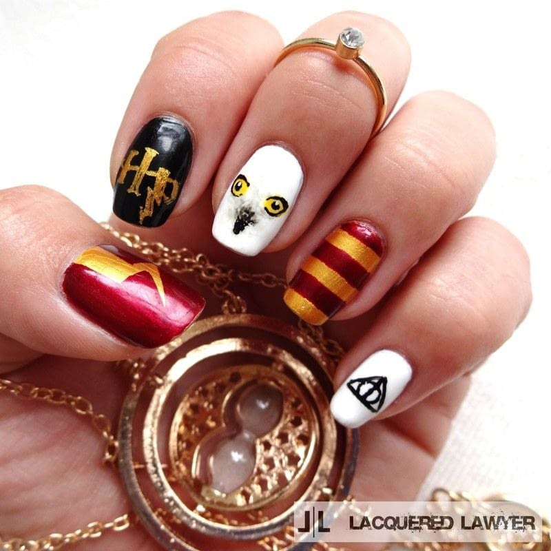 Harry Potter How To Paint A Character Nail Beauty On