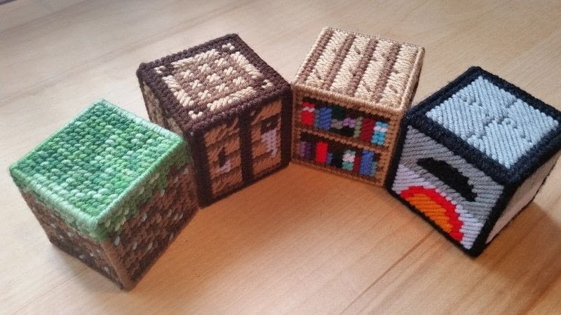 Minecraft In Plastic Canvas Starter Set A Plushie Toy Needlework On Cut Out Keep