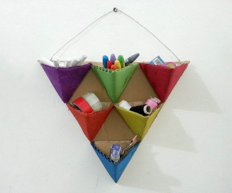 Diy Triangle Organizers How To Make A Wall Tidy Storage
