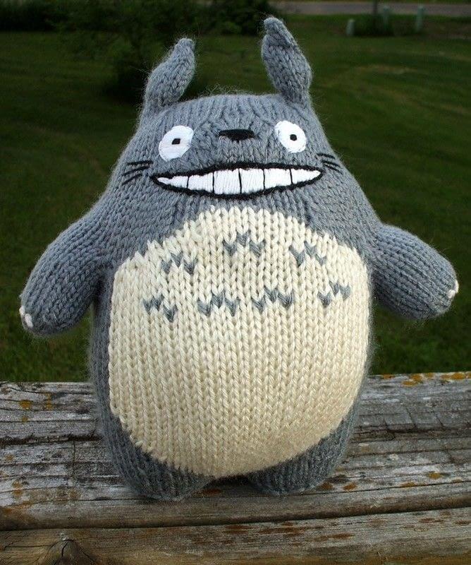 Knitted Totoro A Bear Plushie Yarncraft On Cut Out Keep Creation By Kjbrasda
