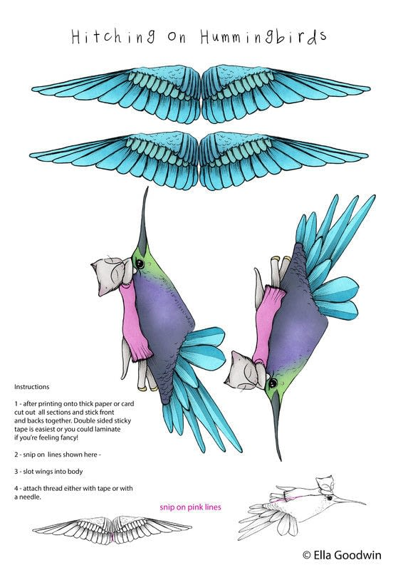 Hummingbird Hitcher Mobile How To Make A Mobile