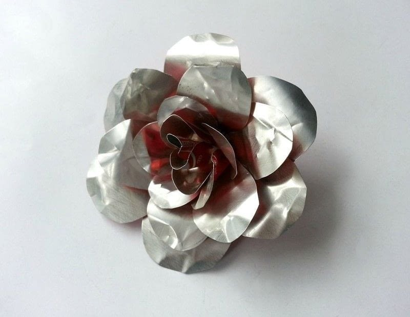 Diy Recycled Metal Flower 183 How To Make A Recycled Model