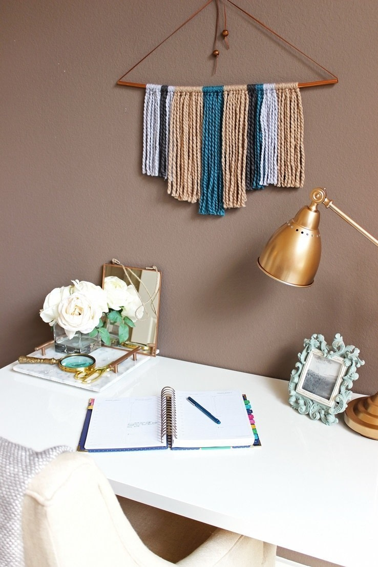 Diy Copper Pipe Amp Yarn Wall Hanging How To Make A Yarn