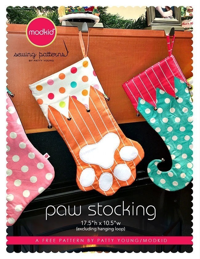 Paw Stocking By Modkid How To Make A Christmas Stocking