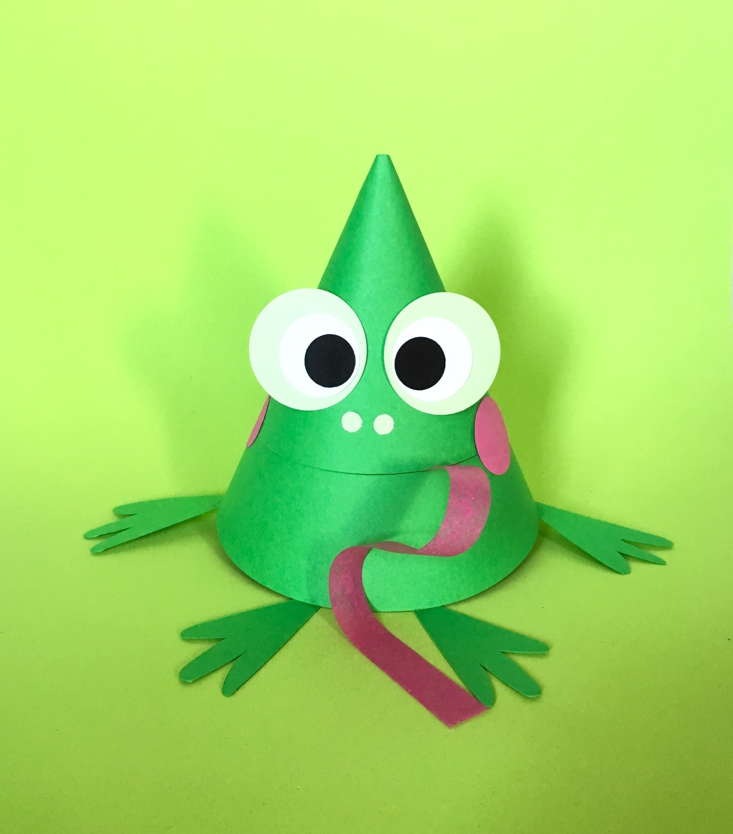 Cone Shaped Frog How To Make A Paper Model Papercraft
