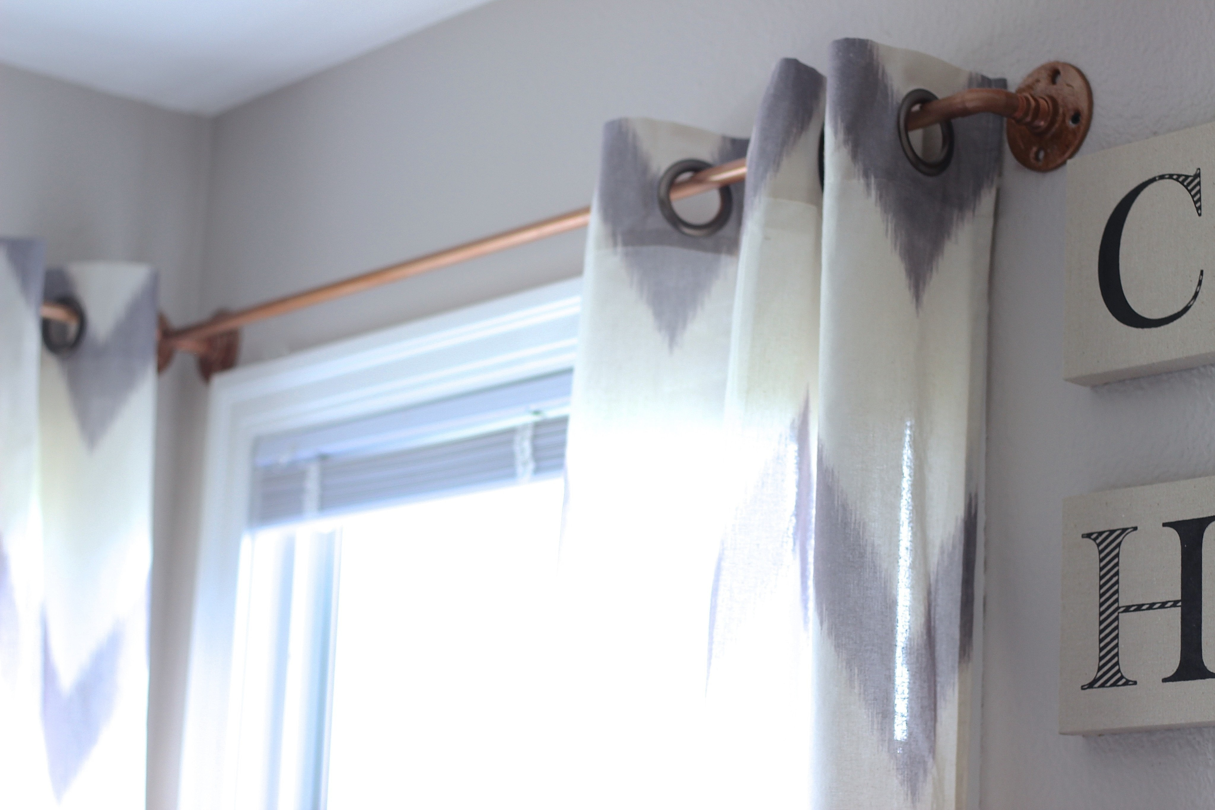 Diy Copper Curtain Rods How To Make A CurtainBlinds Home DIY On Cut Out Keep