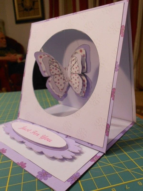 Butterfly Hanging Easel Card 183 How To Make A Greetings
