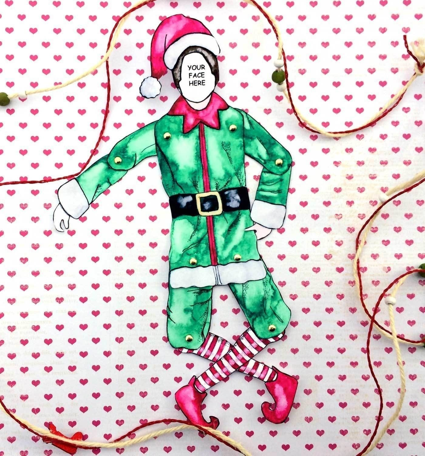 Elf Yourself Use This Free Printable And Your Picture To