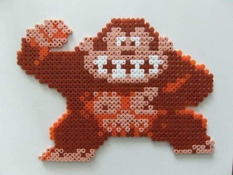 Donkey Kong Sprite Art Figure A Pegboard Bead Charm