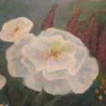 White Flower Painting A Drawing Or Painting Decorating On Cut Out Keep
