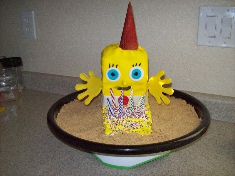 Sponge Bob Cake And Gary The Snale Popcorn Ball Art A