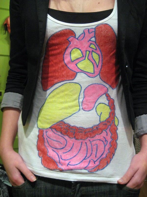 Organ Shirt Tanktop 183 A Tank Top 183 Decorating On Cut Out