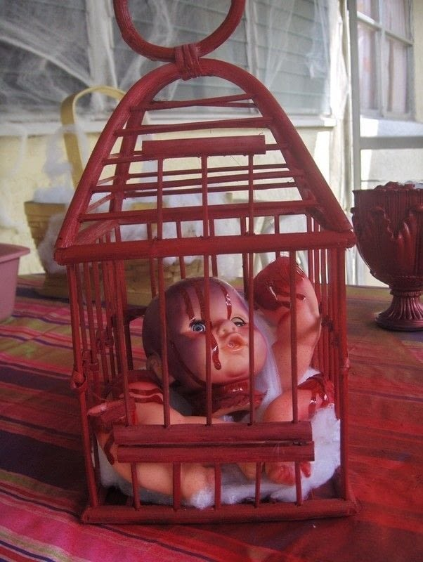 Dead Baby In A Raven Cage 183 A Model Or Sculpture