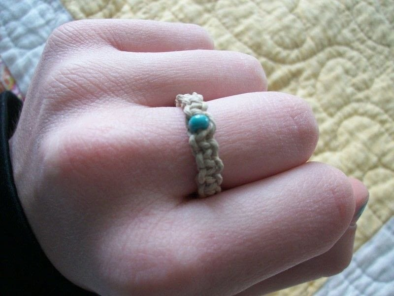 Hemp Ring How To Braid A Braided Ring Braiding And