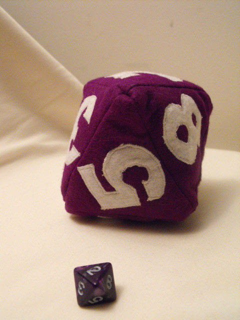 Dungeon And Dragons Baby Dice Dice Sewing On Cut Out