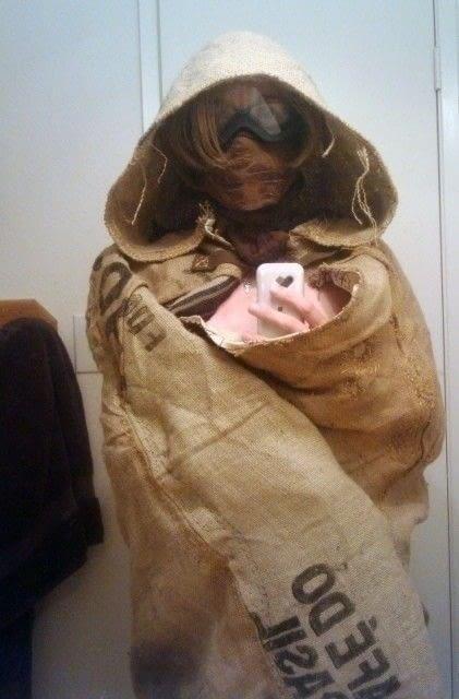 Burlap Hooded Cloak 183 A Cape Cloak 183 Dressmaking On Cut