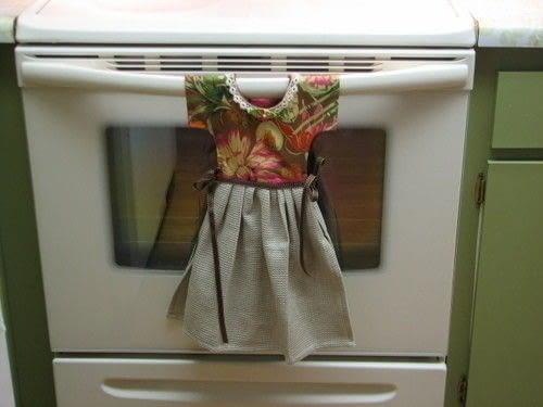 Quot Dress Quot Kitchen Towel 183 How To Make A Tea Towel 183 Sewing
