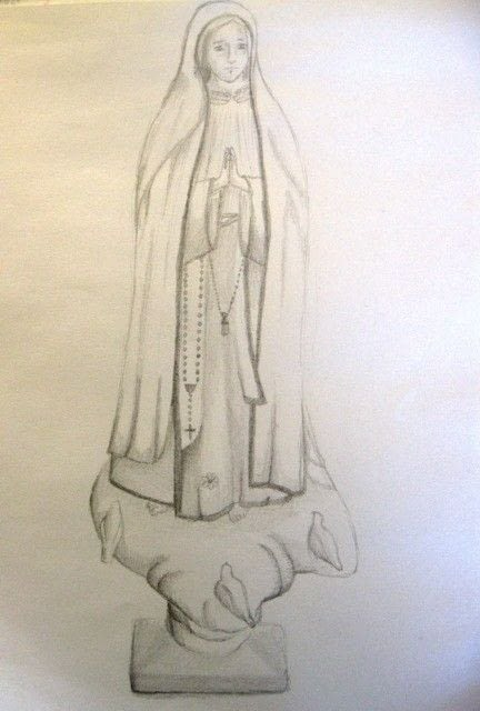 Our Lady Of Fatima Drawing 183 A Drawing 183 Drawing on Cut