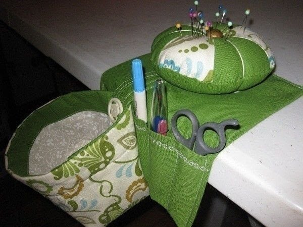 Thread Catcher Caddy And Pincushion A Pin Cushions Sewing On Cut Out Keep
