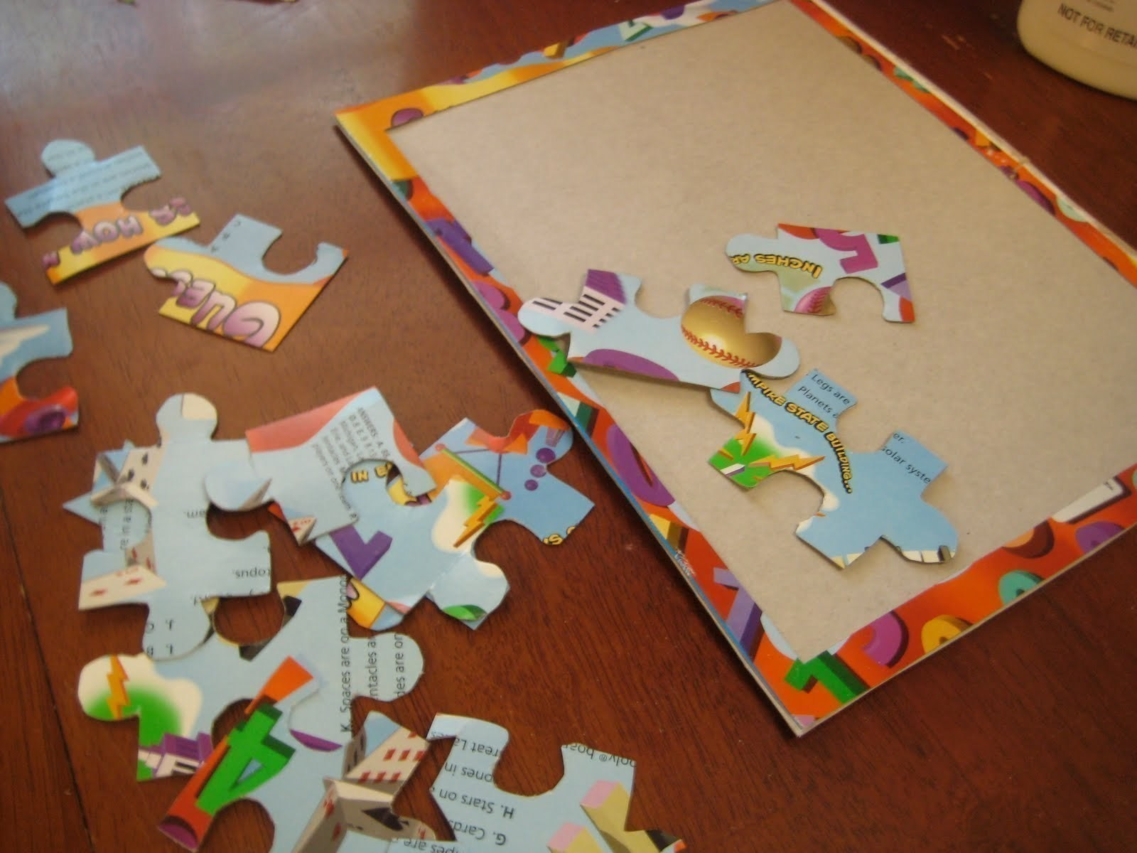 Diy Recycled Cereal Box Puzzle How To Make A Puzzle