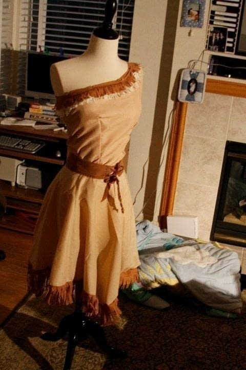 Pocahontas Costume A Princess Costume Dressmaking On Cut Out Keep